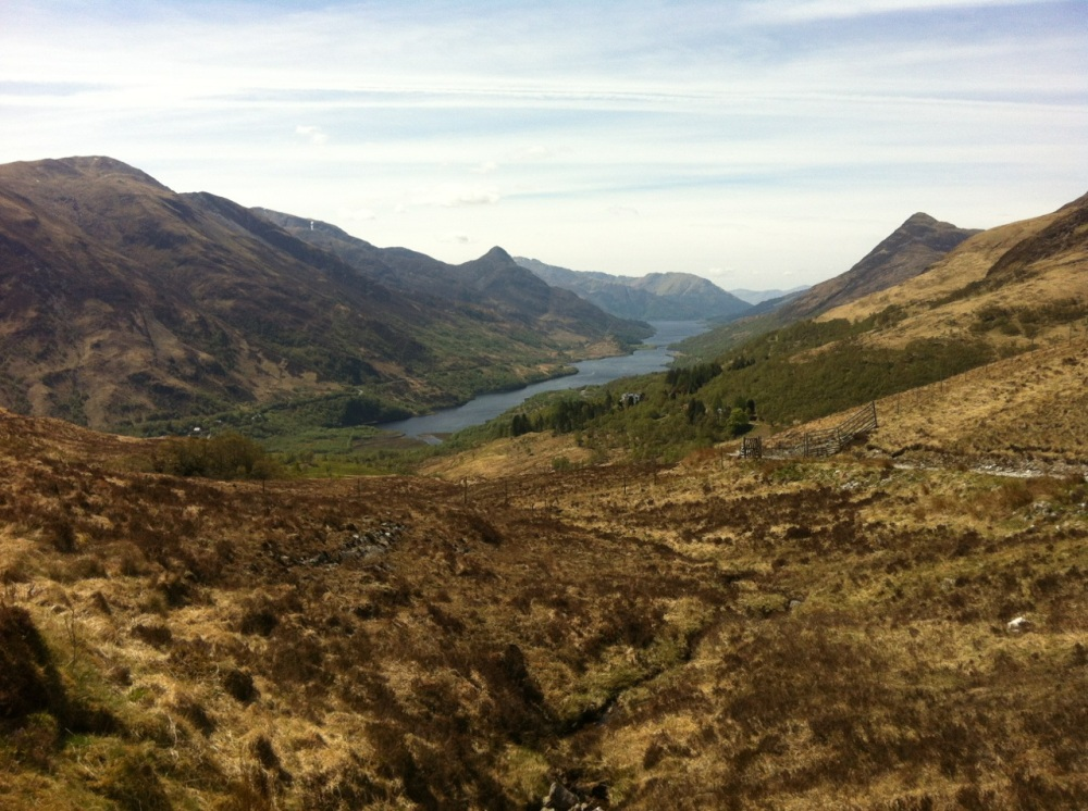 Looking back to Kinlochleven