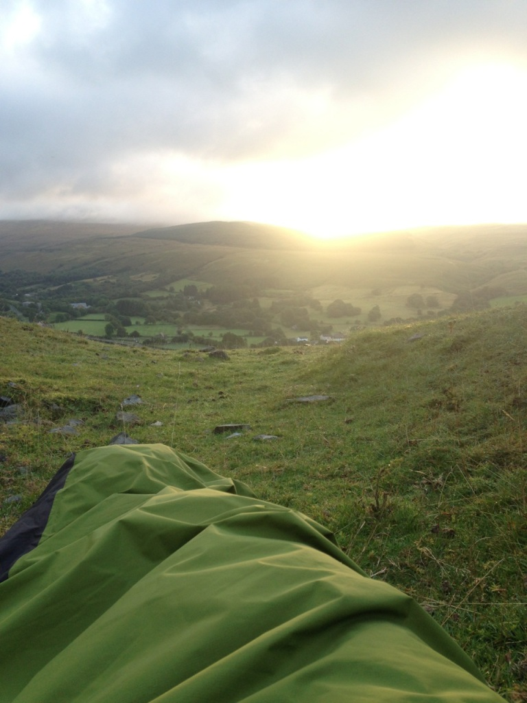 View from the bivvy bag