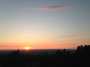June: Sunset from Mow Cop, with Longstaff Cycles
