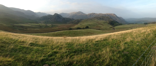 September: Panorama from Walna Scar Road
