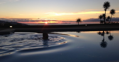 October: relaxing in Madeira with a cool dawn swim