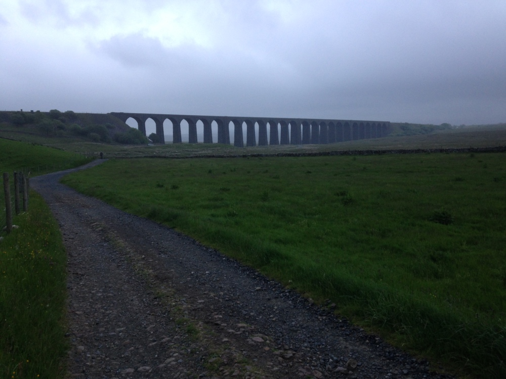 Ribblehead Viaduct in the morning gloom